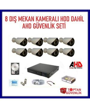 2 MP 1080P 8 Kameralı Ahd Güvenlik Seti Harddisk Dahil ARNA-7428