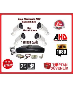 2MP AHD Uzay Metal Kasa 4 Kameralı 1 TB HDD Dahil Güvenlik Seti ARNA-7444