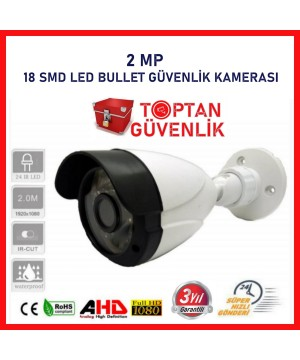 2MP AHD 3.6MM 18 SMD LED Bullet Güvenlik Kamerası ARNA-2224