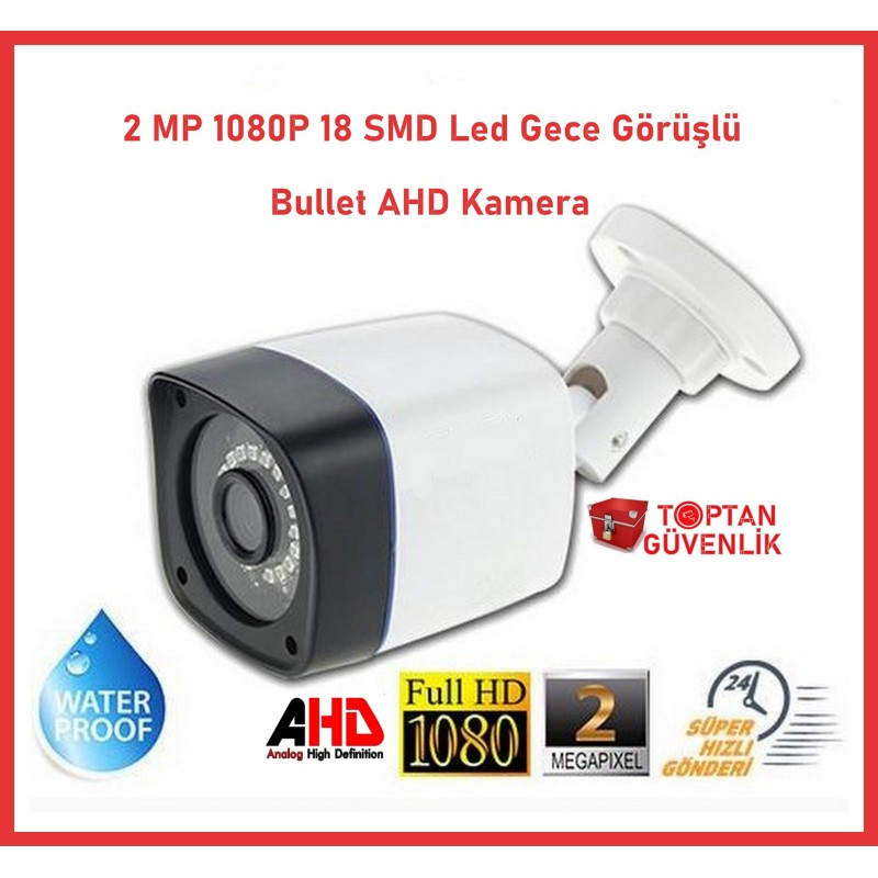2 MP 1080P Ahd 18 SMD Led Bullet Kamera ARNA-2018