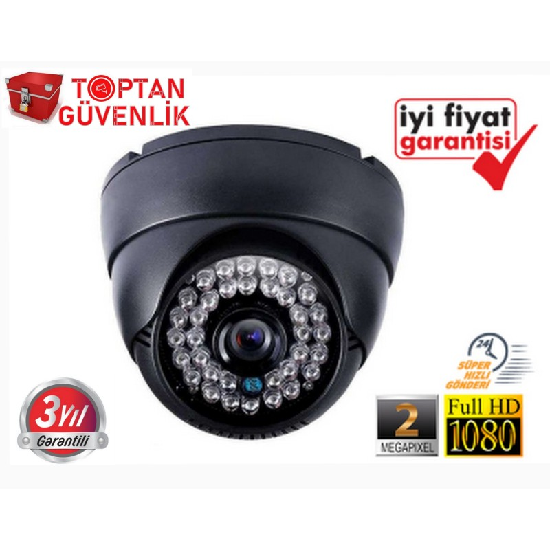 2 MP 1080P 42 LED AHD SiYAH DOME KAMERA ARNA-2422