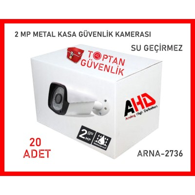 2 MP 6 ATOM LED 1080P FULL HD METAL KASA AHD KAMERA ARNA-2736 20 ADET