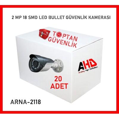 2 MP 1080P 18 SMD LED GECE GÖRÜŞLÜ AHD KAMERA ARNA-2118 20 ADET