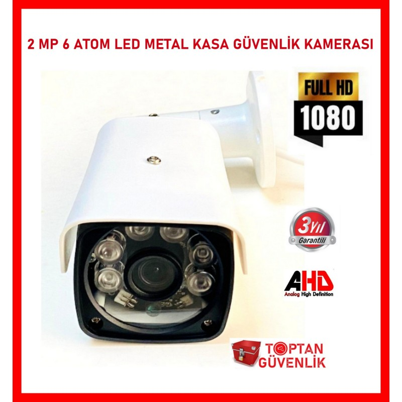 2 mp 6 Atom LED 1080P FULL HD Metal Kasa Ahd Kamera ARNA-2736