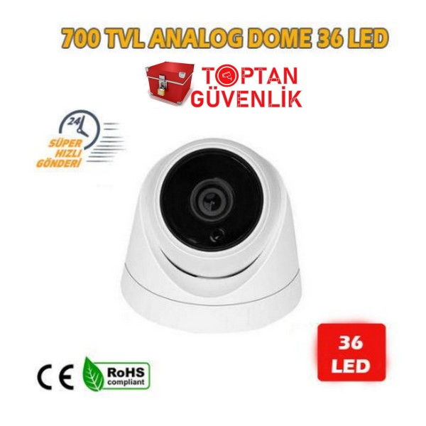 700 TVL 36 LED DOME ANALOG GÜVENLİK KAMERASI ARNA-3736