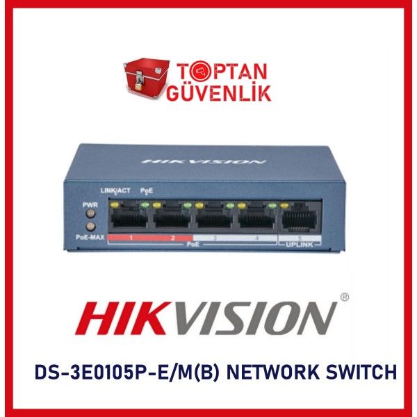 HAIKON NETWORK SWITCH DS-3E0105P-E/M(B) 4 x 10/100