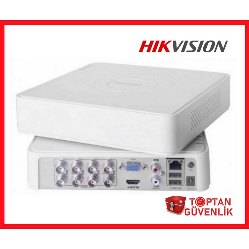 HIKVISION DS-7108HGHI-F1/N 2Mp H264 8 Kanal Video 1Kanal Ses, 1 HDD, 1080P Lite, 5in1 DVR Kayıt Cihazı
