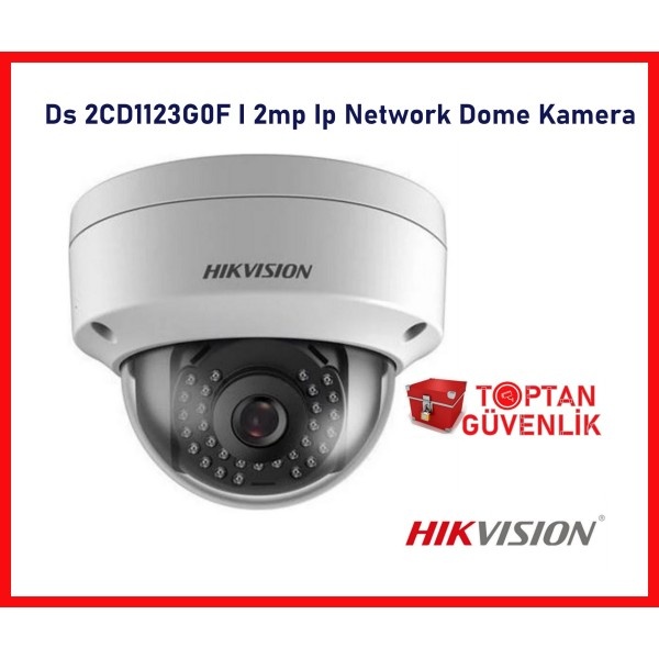 Hikvision Ds -2CD1123G0F-I 2mp Ip Network Dome Kamera