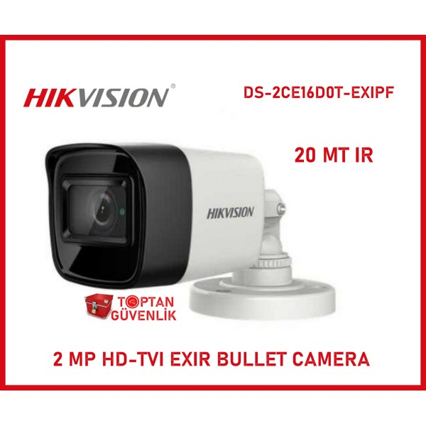 Hikvision DS-2CE16D0T-EXIPF 2 MP HD-TVI EXIR Bullet Camera