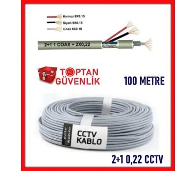 2+1 100 Metre 0,22 CCTV Kamera Kablosu ARNA-5222