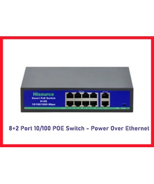 8+2 Port Gigabit POE Switch - Power Over Ethernet - 1000 mBit ARNA-6208