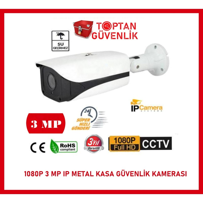 1080P METAL KASA IP FULL HD 3 MP GÜVENLİK KAMERASI ARNA-1093