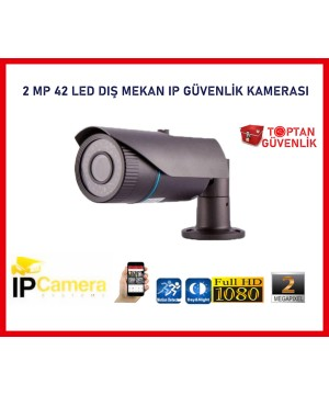 2 MP 1080P 42 LED 3.6 MM DIŞ MEKAN IP GÜVENLİK KAMERASI ARNA-1238