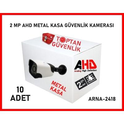 2 MP 18 NANO LED 1080P AHD METAL KASA DIŞ MEKAN BULLET KAMERA ARNA-2418 10'LU KOLİ