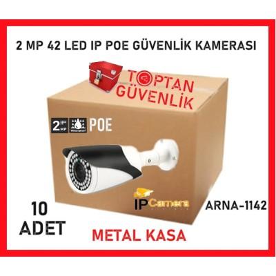 1080P 2MP HD POE IP BULLET KAMERA 42 IR LED METAL KASA ARNA-1142 10'LU AVANTAJLI KOLİ