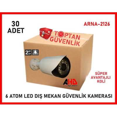 2 MP 1080P 6 Atom Led Gece Görüşlü Ahd Güvenlik Kamerası ARNA-2126 30 Adet Avantajlı Koli