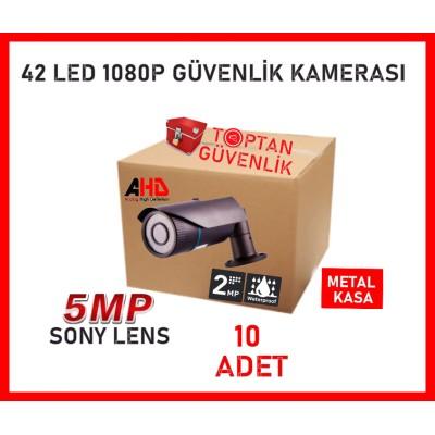 2 MP 1080P Gece Görüşlü Metal Kasa 42 Led Bullet Güvenlik Kamerası ARNA-2142 10'LU KOLİ