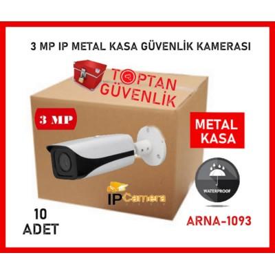 1080P METAL KASA IP FULL HD 3 MP GÜVENLİK KAMERASI ARNA-1093 10'LU AVANTAJLI KOLİ
