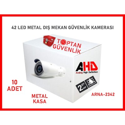 2 Mp 42 Led Ahd Metal Kasa Gece Görüşlü Güvenlik Kamerası ARNA-2342