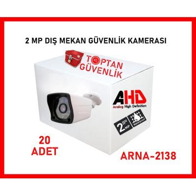 2 MP AHD Dış Mekan Gece Görüşlü 6 Atom Led Bullet Kamera ARNA-2138 20 ADET
