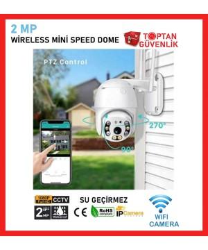 Dış Ortam Mini Speed Dome Wifi Güvenlik Kamerası İCSEE Arna-1042